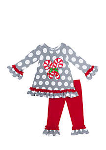 Baby Girls Candy Cane Set