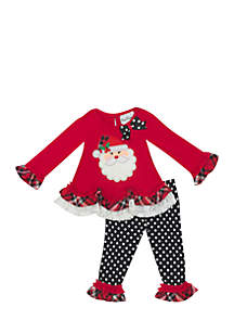 Baby Girls Santa Face Set