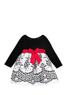 Baby Girls Black and Red Dress