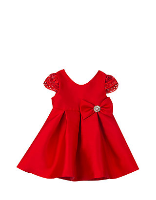 76df2b94a Rare Editions. Rare Editions Baby Girls Red Bow Dress