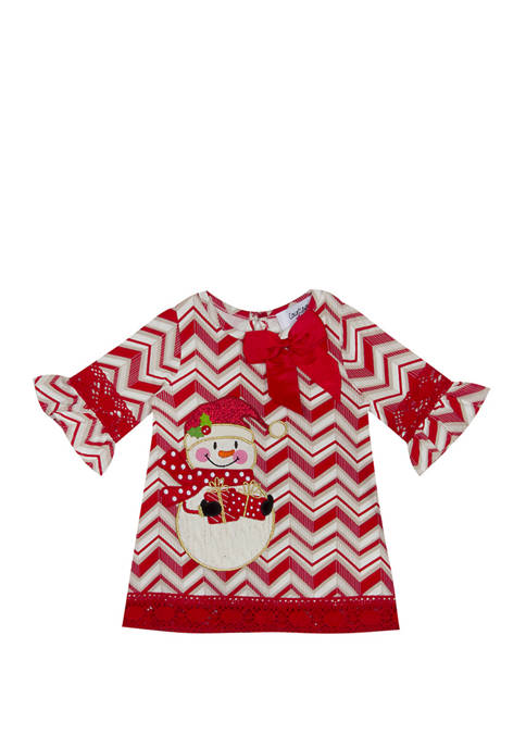 Counting Daises Baby Girls Chevron A-Line Dress