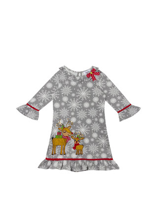 Rare Editions Christmas Dresses.Infant Girls Christmas Reindeer Dress
