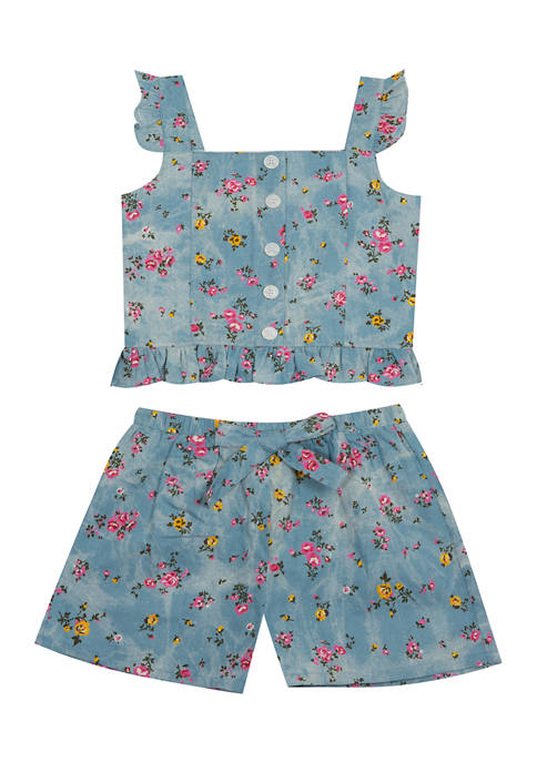 Rare Editions Baby Girls Floral 2-Piece Set
