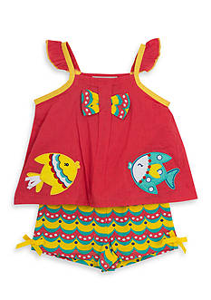 Rare Editions 2-Piece Fish Top and Short Set