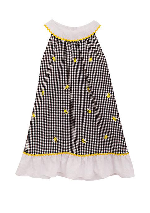 9a360d476 Rare Editions Baby Girls Check Seersucker Bee Dress | belk