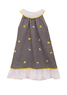 Rare Editions Baby Girls Check Seersucker Bee Dress
