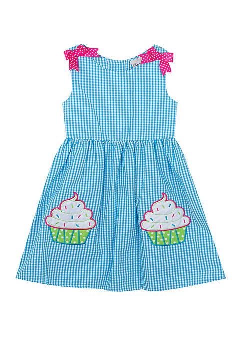 Baby Girls Seersucker Cupcake Dress