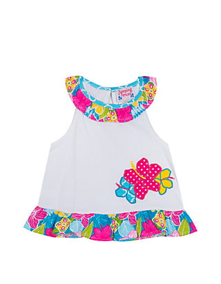 6023dc5669db6 Jumping Fences by Rare Editions. Jumping Fences by Rare Editions Baby Girls  White Ruffle Mix Print ...