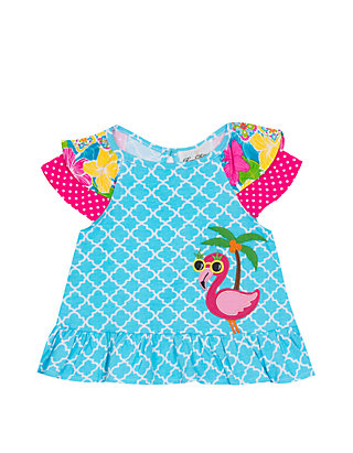 2590c17cb5d9f Jumping Fences by Rare Editions. Jumping Fences by Rare Editions Baby Girls  Aqua Mix Print ...