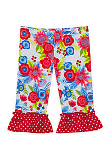 03e5dee445cc Rare Editions Toddler Girls Toucan Tropical Shorts Set · Rare Editions Baby  Girls Floral Applique Bottoms