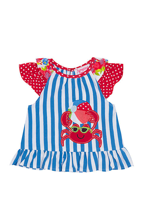 Jumping Fences by Rare Editions Baby Girls Stripe