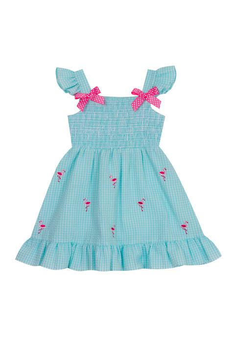 Rare Editions Baby Girls Flamingo Dress