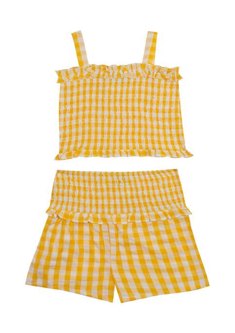 Baby Girls Yellow Gingham Set