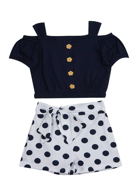 Baby Girls Polka Dot Set