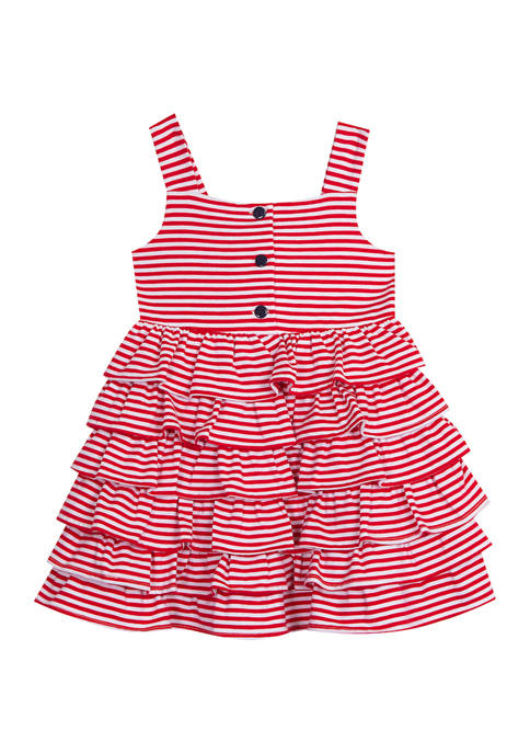 Rare Editions Toddler Girls Red Gingham Midi Dress
