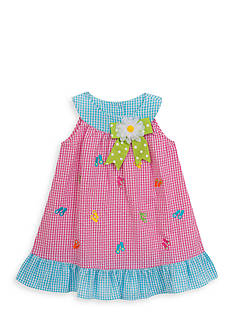 Rare Editions Flip Flop Seersucker Dress Toddler Girls