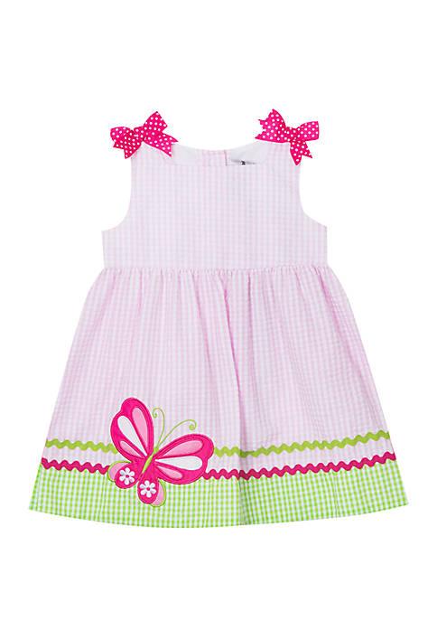 Rare Editions Toddler Girls Butterfly Seersucker Dress