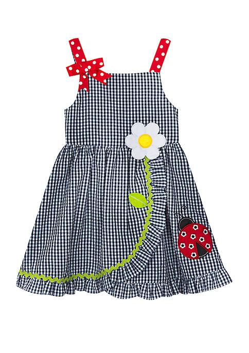 Rare Editions Toddler Girls Ladybug Seersucker Dress