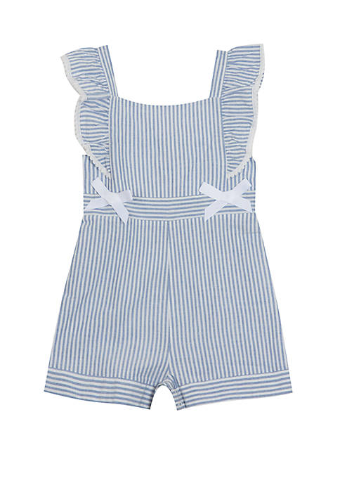 Toddler Girls Stripe Romper with Bows
