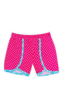 Jumping Fences by Rare Editions Toddler Girls Pink Polka Dot Shorts with Trim