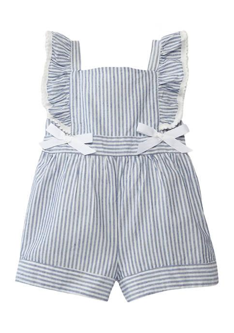 Toddler Girls Striped Yarn Dye Romper
