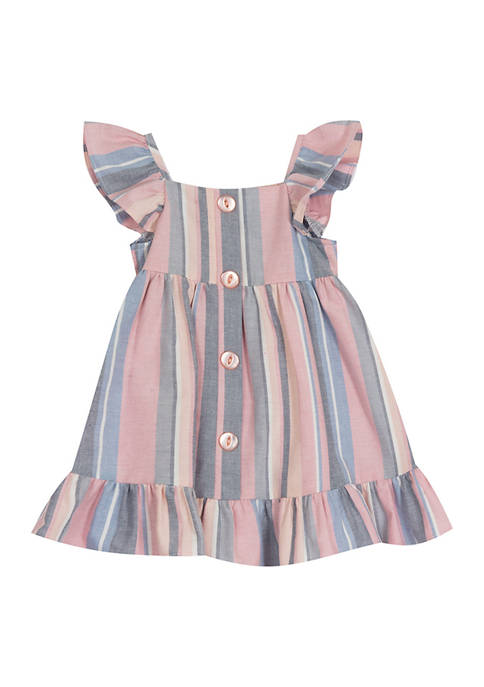 Toddler Girls Striped Dress