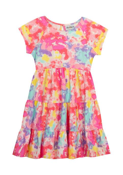 Toddler Girls Tie Dye Printed Dress
