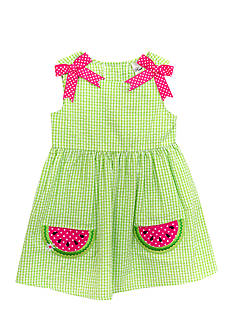 Rare Editions Seersucker Watermelon Dress