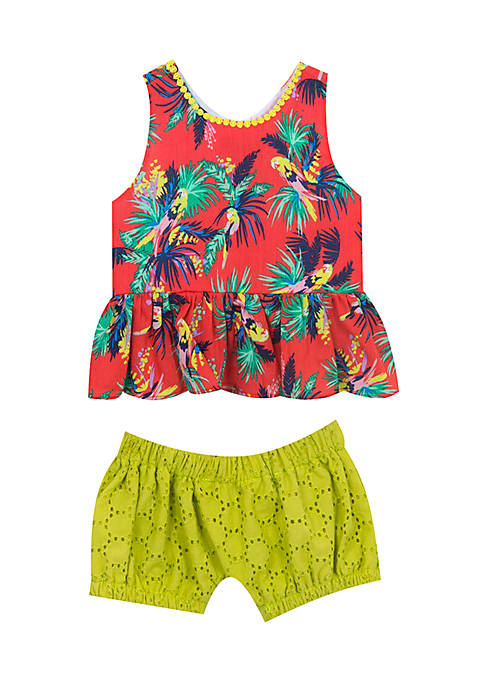 Rare Editions 2-Piece Tropical Set Infant Girls