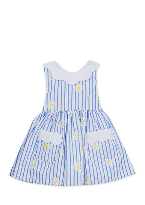 Rare Editions Girls Infant Striped Dress