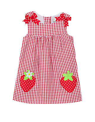 71d368829 Rare Editions. Rare Editions Baby Girls Red Strawberry Seersucker Dress
