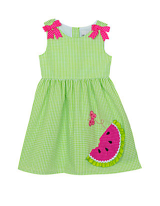 31cdb9e33 Rare Editions. Rare Editions Baby Girls Lime Watermelon Seersucker Dress