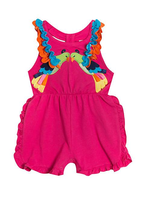 Rare Editions Baby Girls Fuchsia Romper