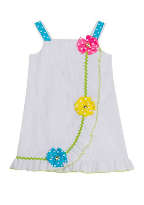 Baby Girls White Seersucker Dress