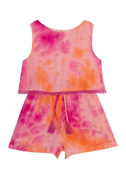 Rare Editions Baby Girls Tie Dye Lurex® Top