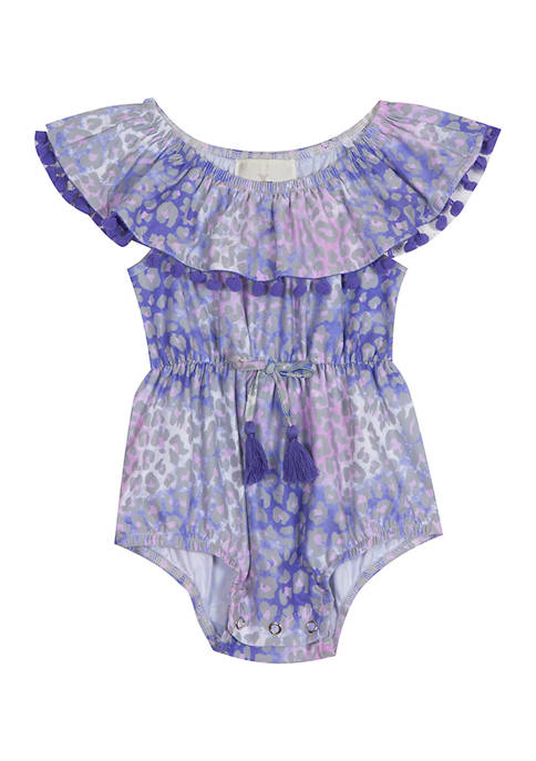 Rare Editions Baby Girls Tie Dye Animal Print
