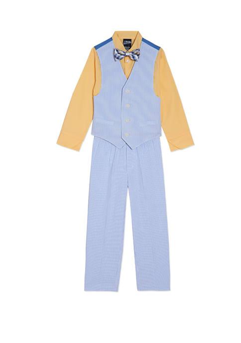 Toddler Boys Seersucker Vest Set