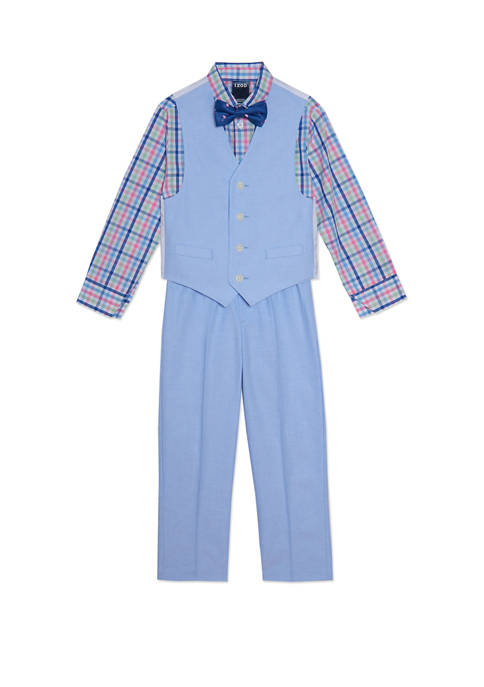 Toddler Boys Oxford Vest Set