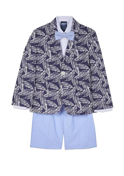 IZOD Toddler Boys Tropical Palm Print Oxford Shorts