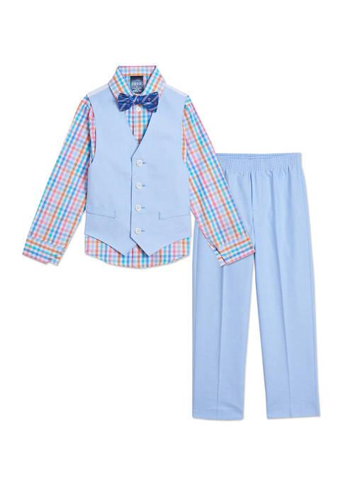 Toddler Boys Oxford Vest Set