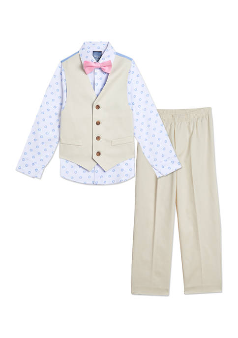 Toddler Boys Solid Twill Vest Set