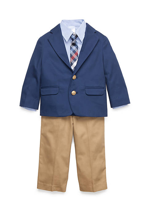 IZOD Button Front Shirt, Jacket, and Pants 3-piece