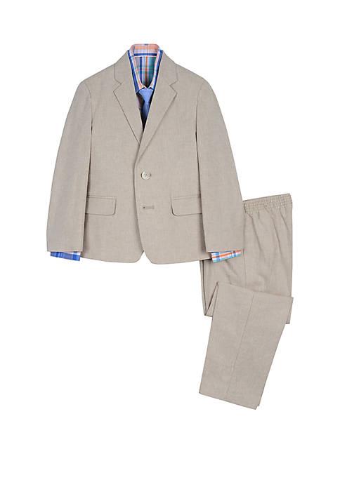 IZOD Toddler Boys 4 Piece Linen Suit Set