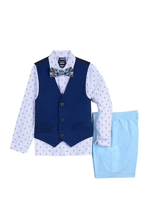 IZOD Toddler Boys Twill Oxford Short Set