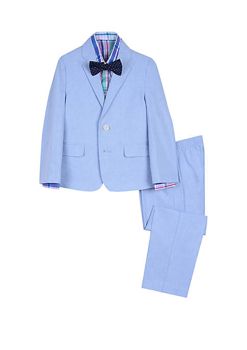IZOD Toddler Boys 4 Piece Linen Suit Set