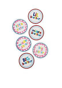 Mud Pie® Sibling Milestone Stickers