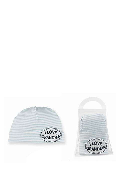 Mud Pie® I-Love-Grandma Stripe Hat