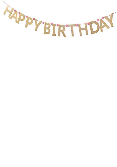 Mud Pie® Glitter Birthday Banner