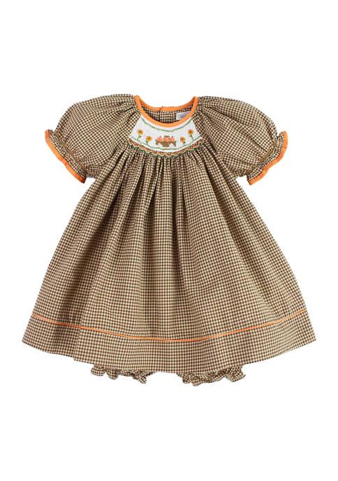 Baby Girls Harvest Dress with Pumpkins