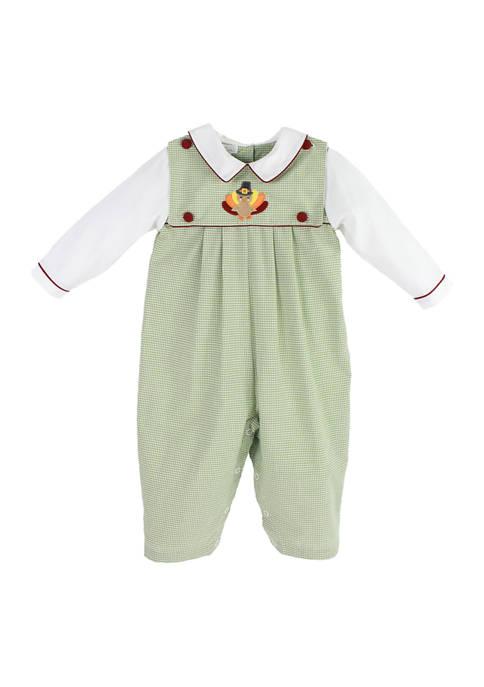 Baby Boys Turkey Overalls